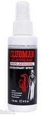 Clubman Pinaud Supreme non-aerosol Deodorant Spray will not stain 4oz.
