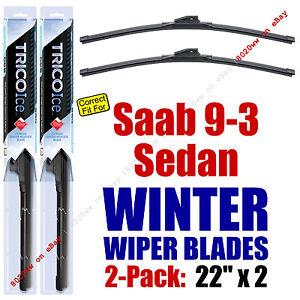 WINTER Wipers 2-Pack Premium Grade - fit 2003 Saab 9-3 - 35220x2