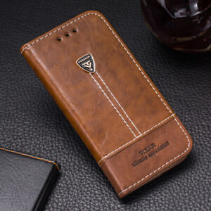 For Motorola Phone Case Flip Leather Cover Stand Wallet CARD Slots Shockproof