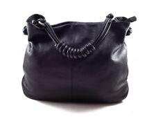 BREE Black Leather Tote Shoulder Bag