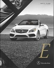2016 16  Mercedes Benz E Class Convertible   Original  brochure