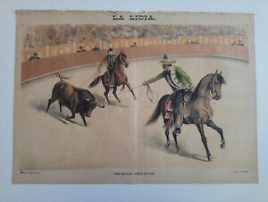 1889 La Lidia Revista Taurina VIII Núm 19 Toreo Mexicano Suerte Toros Corrida+++