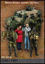 Evolution 1/35 BS-06 Modern Russian Soldiers & Girls - 9 Figures & 1 Dog