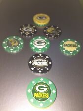 (8) Green bay Packers CARD Protector, Card GUARD WSOP, Poker Weight, Poker Chip