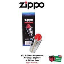 (5) 6 Zippo Flints Dispenser, For Windproof & Blu Lighters, Flint #2406N_5