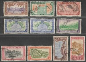 Cook Islands 1949 King George VI Set to 2sh Used SG150-158 cat £30