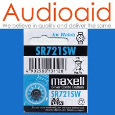 Maxell Sr721sw 362 Silver Oxide Watch Battery X5 Pcs Made in Japan