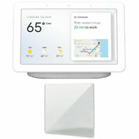 Google Nest Hub with Google Assistant (Chalk, GA00516-US) and Screen Protector