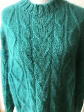 Compagnie Internationale Limited Express Women's Large Turquoise Mohair Sweater