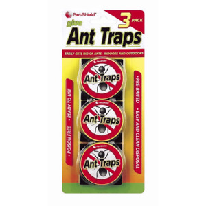 3 Ant Trap Bait Station Pre Baited Ants Traps Indoor Outdoor Kill Destroy Nest