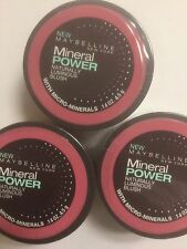 LOT OF 3 - Maybelline Mineral Power Naturally Luminous Blush ( FRESH PLUM ) NEW.