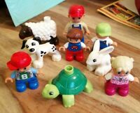 9 LEGO DUPLO FIGURES & ANIMALS TURTLE RABBIT SHEEP DOG 4 KIDS LOVELY XMAS SET 6
