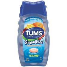 TUMS Smoothies Antacid Chewable Tablets, Assorted Fruit 60 ea
