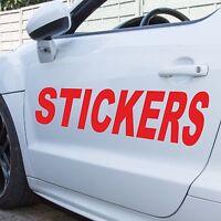 Custom Car Personalised Vinyl Decals Stickers Name Lettering Text Graphics Door