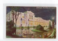(Sa911-100)  Canada Pavilion By Night, 1928  ,used ,VG