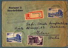 GERMANIA SARRE - 1952/55 - Vedute su racc.