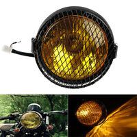6.5''Phare Projecteur Feux Avant Grille Rond Pour Honda Harley Bobber Cafe Racer