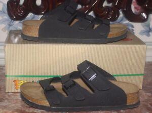 NEW Birkenstock Birkis Sandals Marseille Black Slip-on Suede 3 Strap 5  EU36 #2