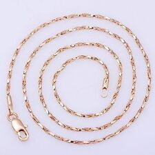 18K Yellow Solid Gold Filled Women's Mens Snake Necklace Chain 18 inch Long