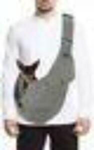 Slowton Sling Pet Dog Cat Carrier Adjustable Padded Strap Dk Green