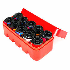 135 film storage hard case box Container for 10 rolls of 135 films red