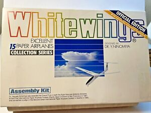 WHITE WINGS Official Edition 1986 by Yasuaki Ninomiya ~ 15 Paper Airplanes