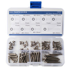 M3 Star Drive Pan Head Machine Screws Assortment Torx Pan Head Machine Screws