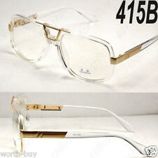 Crystal Gold DMC Square Gazelle Style Clear Lens Frame Glasses Fashion Designer