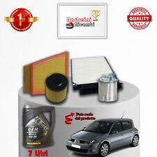 Kit Inspección Filtros Y Aceite Renault Megane II 2.0DCI 127KW 175CV De 2008- >