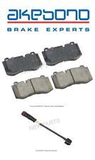 For MB C216 W221 R230 CL S SL Class Front Brake Pad Set & Sensor Kit Akebono