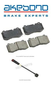 For MB C216 W221 R230 CL S SL Class Front Brake Pad Set & Sensor Kit Akebono