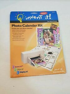 Invent It Photo Calendar Kit For Ink Jet Printers Paper Covers Spiral Binder New