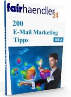 eBOOK: 200 E-MAIL MARKETING TIPPS erfolgreich mit Leads Verkäufe email E-LIZENZ