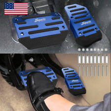 Blue Car Non-Slip Automatic Gas Brake Foot Pedal Pad Cover Accessories Universal