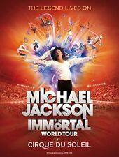 Michael Jackson Immortal World Tour Poster Style B 13x19 inches