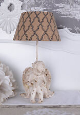 Table Lamp Country House Style Light Angel Luminaire Cloth Screen Amor