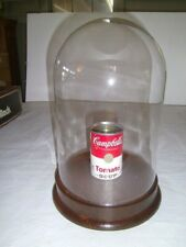"""Vtg GLASS DISPLAY DOME CLOCHE w