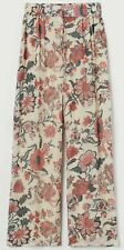 Sabyasachi X H&M Wide Chiffon Floral Trousers Beige Red BNWT SIZE S SOLD OUT!