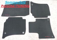 Porsche Cayenne GTS 958 Velour Fußmatten floor mats Schwarz rote Naht 7P5863011F