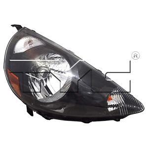 Headlight Front Lamp for 07-08 Honda Fit (Black) Right Passenger