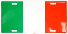 "Italy Italian 6""x12"" Aluminum License Plate Tag"
