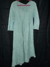 Cynthia Ashby Trellis Dress Women Small Sea Green Linen Langelook Asymmetrical