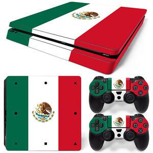 Sony PS4 PLAYSTATION 4 Slim Skin Sticker Screen Protector Set - Mexico Motif