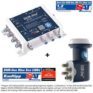 DUR-line MS 5/6 blue eco Multischalter für 6 Teilnehmer + Blue ECO Quattro LNB