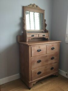 Antique dressing table with mirror, Victorian/Edwardian
