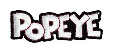 Popeye Logo Iron-On Patch 3 1/2 x 1 1/4 inches Free Shipping Licensed PCH-PPP015