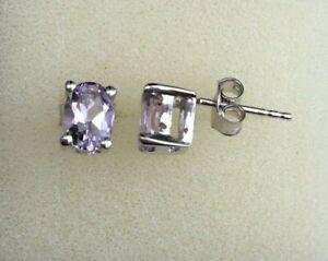 Silver Morganite Earrings