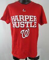 Washington Nationals Harper Hustle MLB Majestic Children's Red T-Shirt