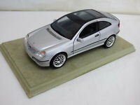 Maisto 1:18 Silver Mercedes Benz CL 203 C Class Sports Coupe Diecast Car Toy