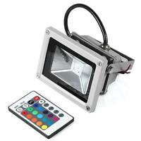 10W LED RGB Color Spotlight Flood Light Garden Lamp Waterproof+Remote Controler